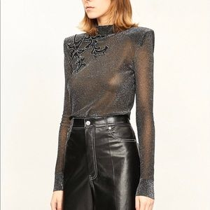 NWT Christopher Kane • Sequin Embroidered Knit top